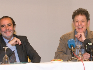 Philip Glass y Juan Calzada